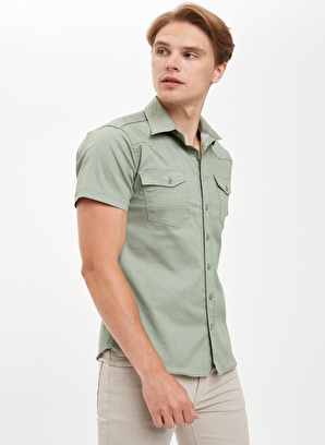 DeFacto Çift Cepli Slim Fit Gömlek